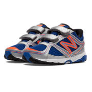 New Balance 636, Silver with Blue & Orange