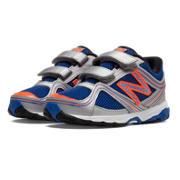 New Balance 636, Silver with Blue & Orange