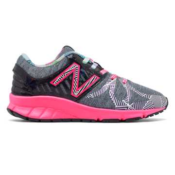 New Balance Electric Rainbow 200, Black with Grey & Pink