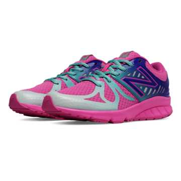 New Balance New Balance 200, Pink Zing with Teal & Purple