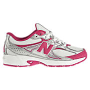 New Balance 380, White with Race Red & Silver