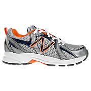 New Balance 554, Grey with Blue & Orange