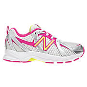 New Balance 554, White with Pink Shock & Hi-Vis Yellow
