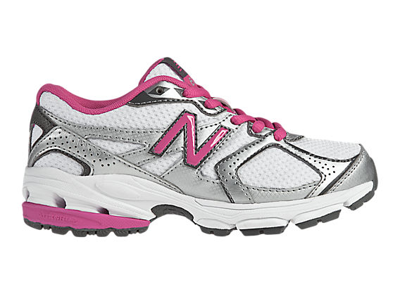 New Balance 633, White with Diva Pink & Silver