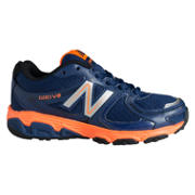New Balance 680, Navy with Orange