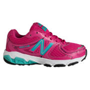 New Balance 680, Hot Pink with Teal & White