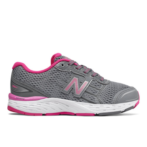 New Balance 680v5  - Steel/Pink Glo