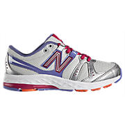 New Balance 690, White with Purple & Pink