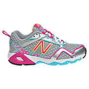 New Balance 695, Silver with Diva Pink & Light Blue