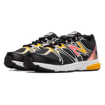 New Balance New Balance 697, Black with Orange Pop & Orange