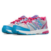 New Balance 697, Silver with Pink Zing & Blue Surf