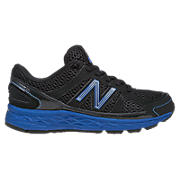 New Balance 750, Black with Cobalt Blue