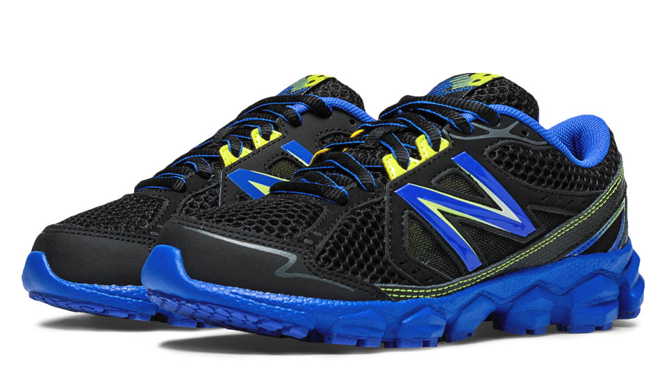 New Balance 750v3, Black with Blue & Yellow