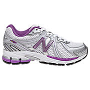 New Balance 860, Silver with Purple & White