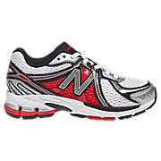 New Balance 860, Silver with Black & Red