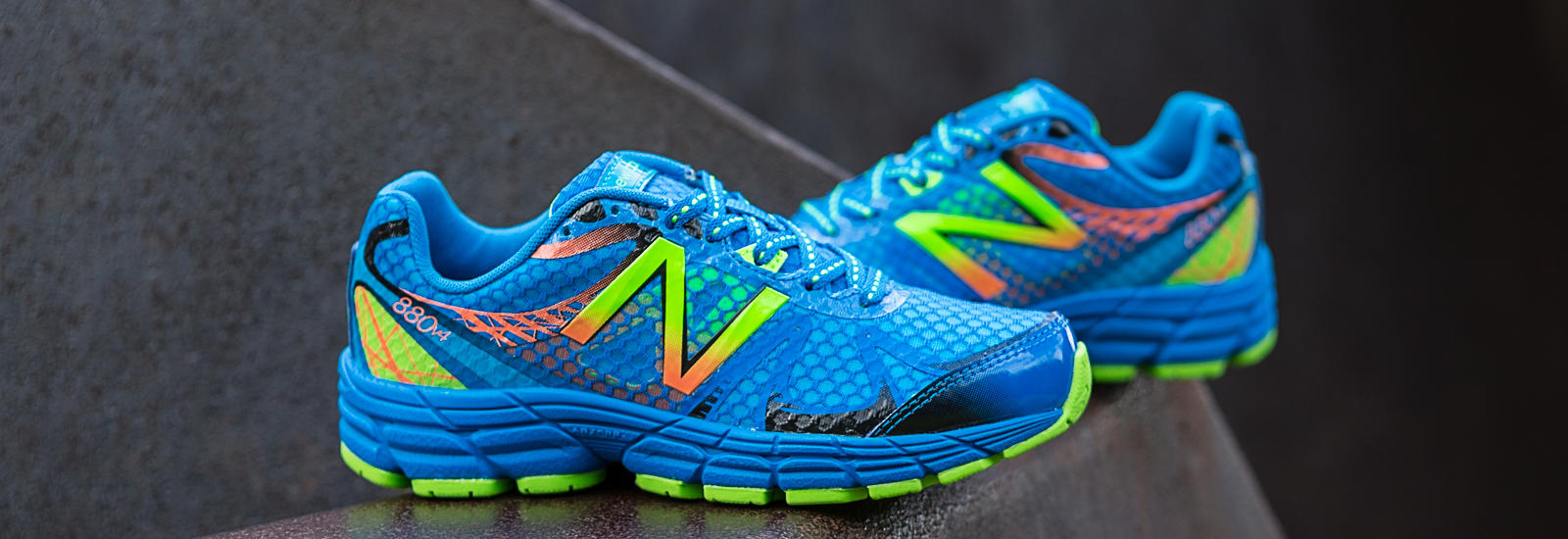 New Balance 880v4, Blue with Green