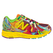Tie Dye 890v3, Yellow with Neon Green & Neon Orange