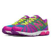 New Balance 890v5, Exuberant Pink with Green Flash & Blue