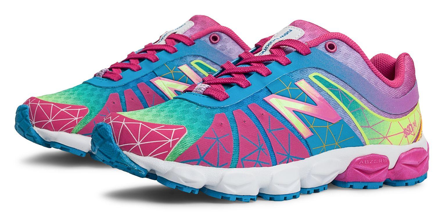 New Balance Girls Rainbow 890v 4 Shoes Pink
