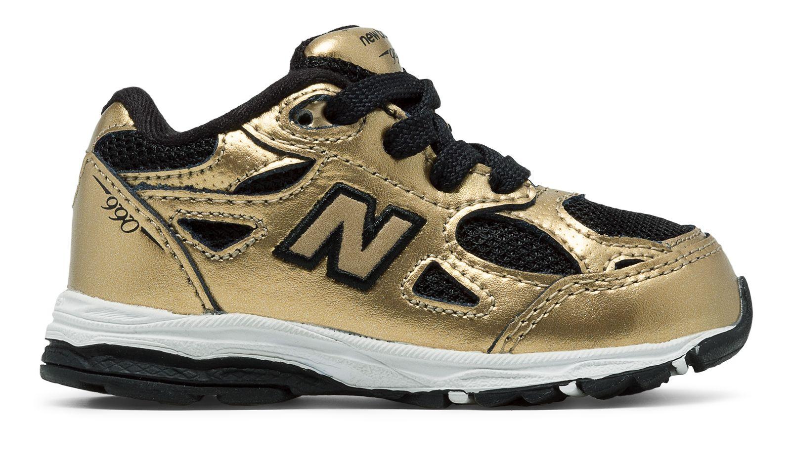 New Balance Kids 990v 3 Shoes Gold