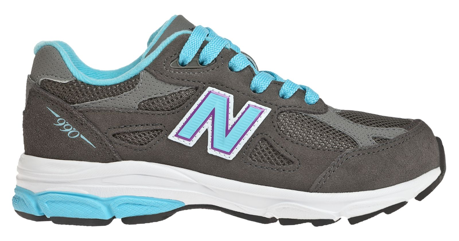 New Balance Neon 990v 3 Pre - school Girls Shoes Grey