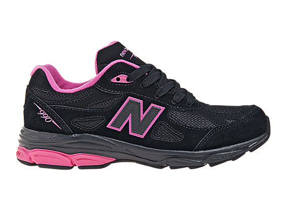 New Balance 990v3, Black with Pink