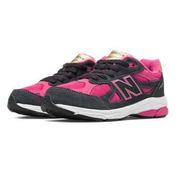 New Balance Jacket Pack 990v3, Pink Zing with Dark Grey