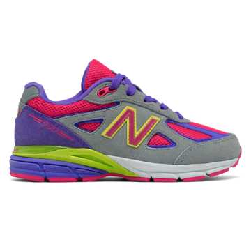 New Balance New Balance 990v4, Grey with Hot Pink