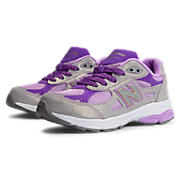 New Balance 990v3, Grey with Purple