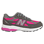 Neon 990v3, Grey with Pink Shock & Light Grey