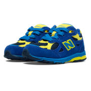 New Balance 990v3, Blue with Navy & Yellow