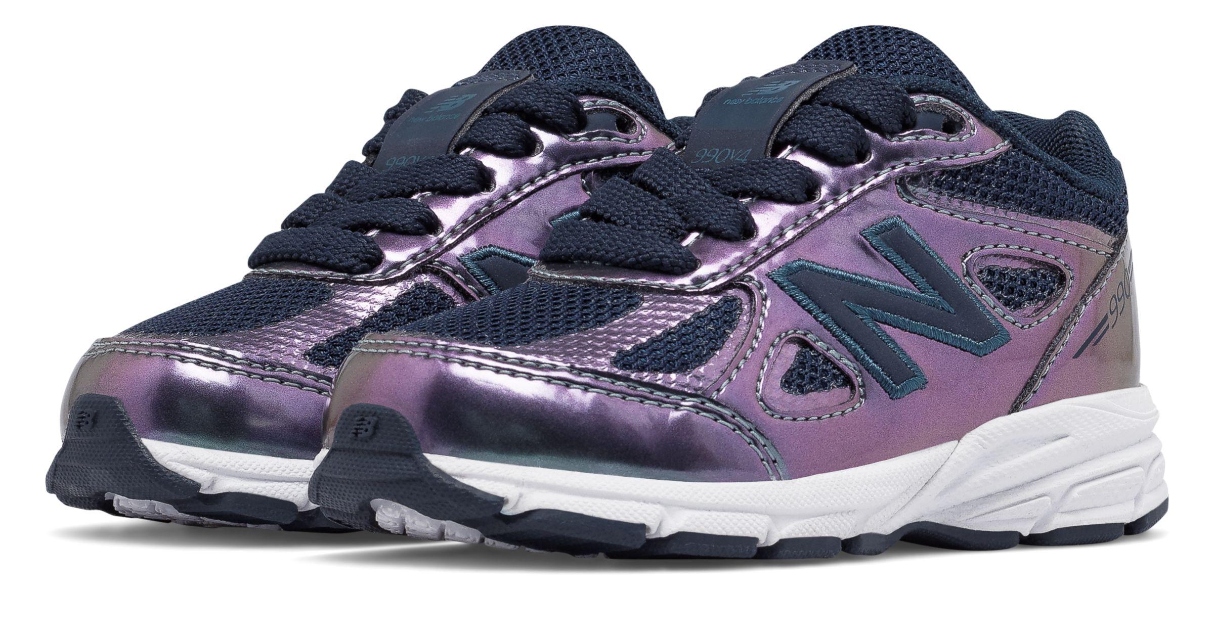 New Balance Kids 990v 3 Shoes Purple