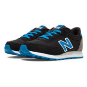 501 New Balance, Black with Blue Atoll & Grey
