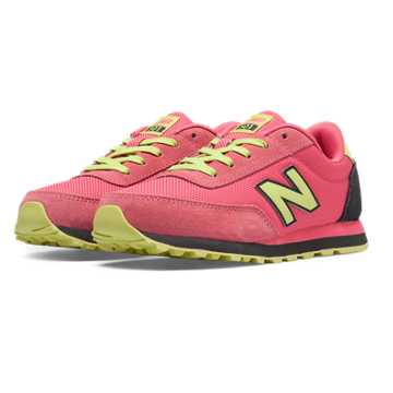New Balance 501 New Balance, Bubble Gum with Light Yellow & Black