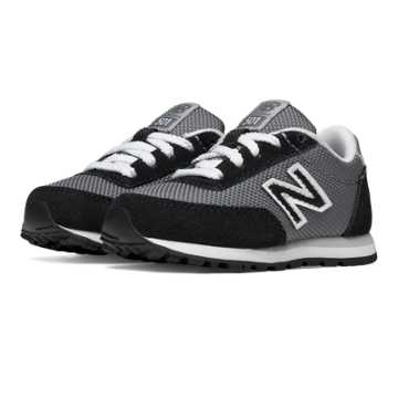 New Balance 501 New Balance, Black with White & Grey
