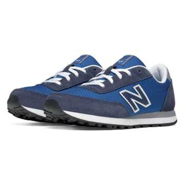 New Balance 501 New Balance, Blue with White & Navy