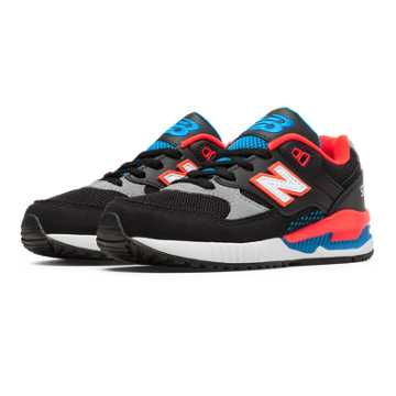 New Balance 530 90s Bold, Black with Flame & Grey