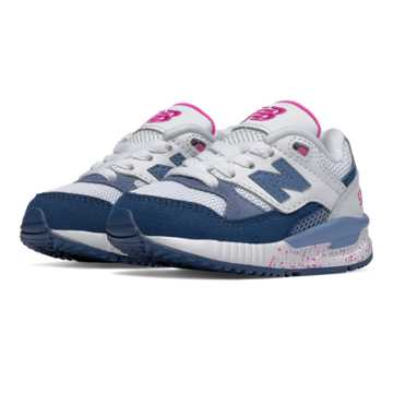 New Balance 530 New Balance, Blue with White & Pink Zing