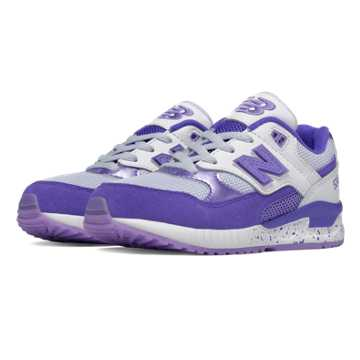 New Balance 530 Foil Eggs, Purple with White