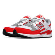 530 New Balance, Red with White & Light Grey