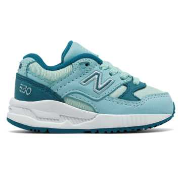 New Balance 530 Canvas Wax, Blue Light with Blue Aster