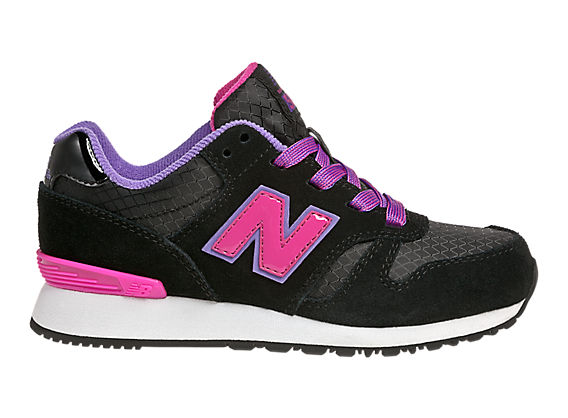 New Balance 565, Black with Diva Pink & Purple