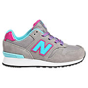 New Balance 565, Light Grey with Bay Blue & Purple