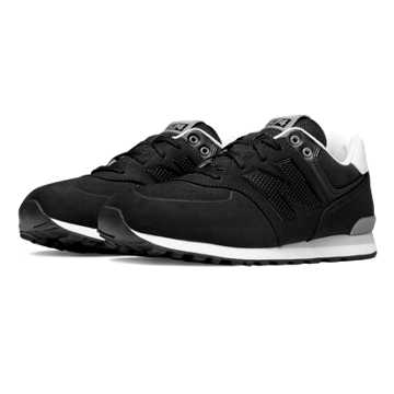 New Balance 574 Paint Chip, Black