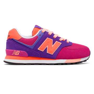 New Balance 574 Cut and Paste, Pink Zing with Purple & Orange