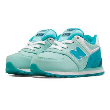 New Balance 574 Glacial, Sea Glass with Blue Atoll & White