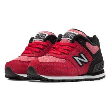 New Balance 574 Sweatshirt, Red with Black