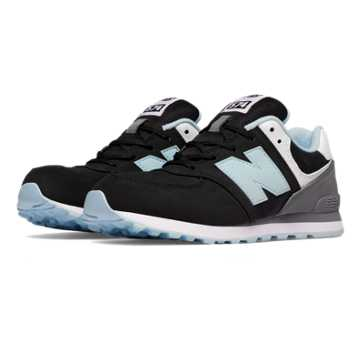 New Balance 574 State Fair, Black with Blue Light
