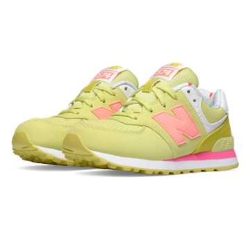 New Balance 574 State Fair, Yellow with Pink