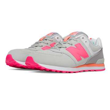 New Balance 574 State Fair, Light Grey with Pink